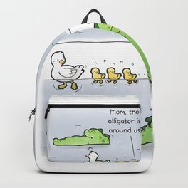 Gator Is Around Backpack