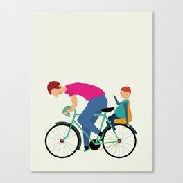 Balade à vélo Canvas Print