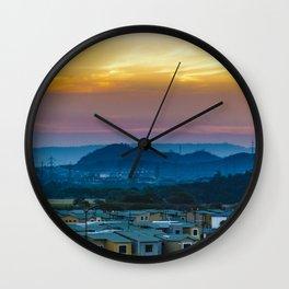 Twiglight Landscape Scene Guayaquil, Ecuador Wall Clock