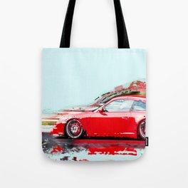 The Red Porsche Tote Bag