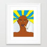 rasta Framed Art Prints featuring rasta by Sproot