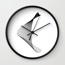 """""""Linear Collection"""" - Minimal Letter C Print Wall Clock"""