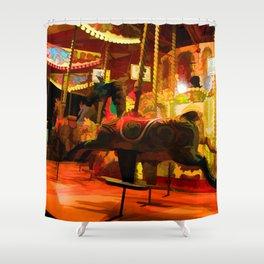 Midnight Carousel Ride Shower Curtain