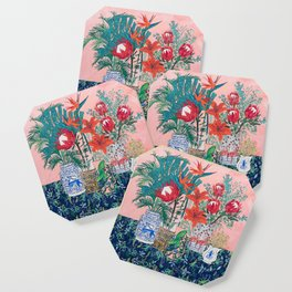 The Domesticated Jungle - Floral Still Life Coaster