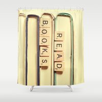 read Shower Curtains featuring Read Books by Olivia Joy St.Claire - Modern Nature / T