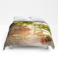 Fresh cherrie in glass Comforters