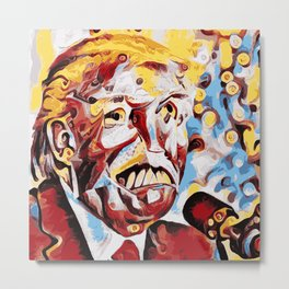 The Leader of the Free World is a Monster Metal Print
