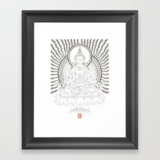 Amitayus - Glorious one who overcomes all untimely death Framed Art Print