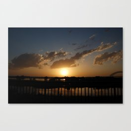 memphis sunset Canvas Print