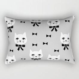 Cute Cats bow ties grey kittens cat art pattern design by andrea lauren Rectangular Pillow