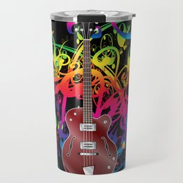 Bass Guitar Color splash Travel Mug