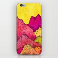 Heat Wave Mountains iPhone Skin