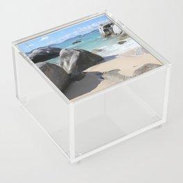 Scenic Beach at The Baths on Virgin Gorda, BVI Acrylic Box