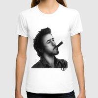 robert downey jr T-shirts featuring David's Portrait #2 Robert Downey Junior by Davide Vitiello