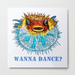 Pufferfish Punch Metal Print
