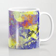Signs Of Life - Vibrant, random paint splatter multi coloured abstract Mug