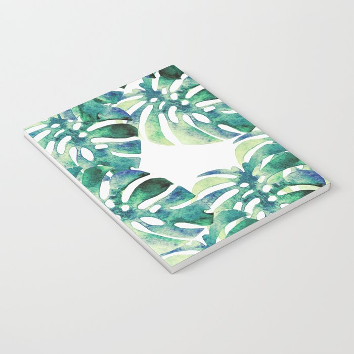 Monstera Pattern Green Notebook