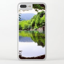 A Bridge Crossing Voidomatis River Clear iPhone Case