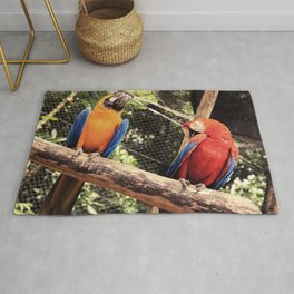 couple of macaws - casal de araras Rug