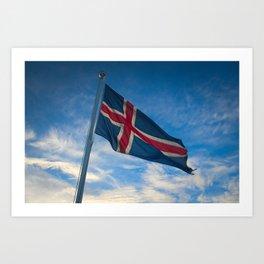 Iceland Flag Art Print