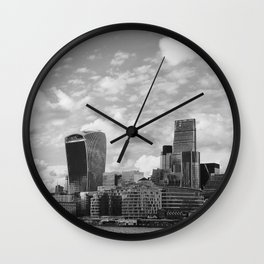 London Skyline on the River Thames Wall Clock