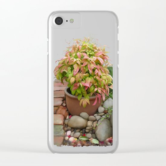 Leaves and Dew Clear iPhone Case