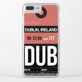 DUB Dublin Luggage Tag 2 Clear iPhone Case