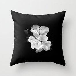 geranium in bw Throw Pillow