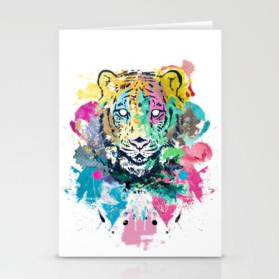 Tiger Splash Stationery Cards