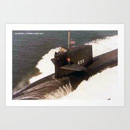 USS HENRY L. STIMSON (SSBN-655) Art Print
