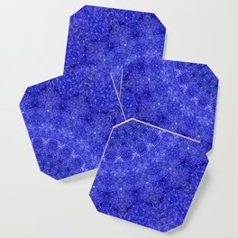 Cosmos Mandala II Cobalt Blue Coaster