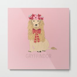 GRYFFINDOR-FLOWER CROWN Metal Print