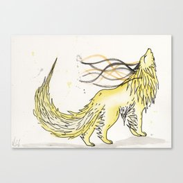 Sulfite the Sulphur Wolf. Canvas Print