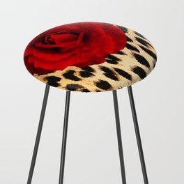 Leopard Rose by Lika Ramati Counter Stool