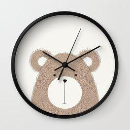Cute Woodland Animals Baby Nursery Bear Wall Clock