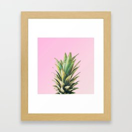 Pineapple Pink Framed Art Print