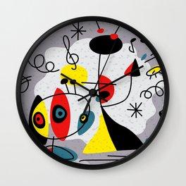 Music inspired by Joan Miro#illustration Wall Clock