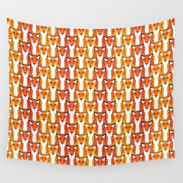 Autumn Foxes Wall Tapestry