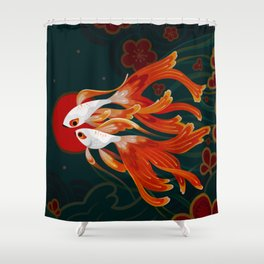 Two comets Shower Curtain