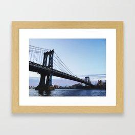 MANHATTAN BRIDGE AT DUSK Framed Art Print