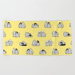 baby penguin print Beach Towel