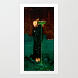 """John William Waterhouse """"Circe Invidiosa"""" Art Print"""