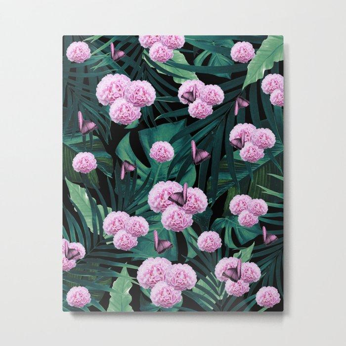 Tropical Peonies Dream #1 #floral #foliage #decor #art #society6 Metal Print