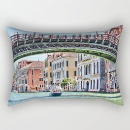 Ponte dell' Accademia Bridge In Venice, Italy Rectangular Pillow