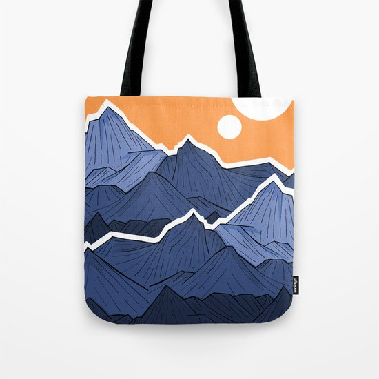 The mountains under the two suns Tote Bag