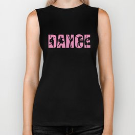 Dance in Light Pink with Dancer Cutouts Biker Tank