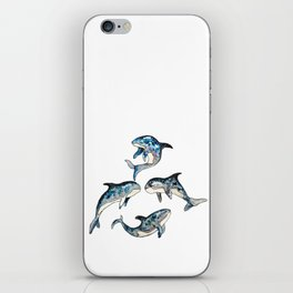 killer whale in space iPhone Skin