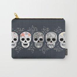 Celebracion de Gris_Calaveras Sugar Skulls line_RobinPickens Carry-All Pouch