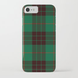 Dark Green Tartan with Black and Red Stripes iPhone Case