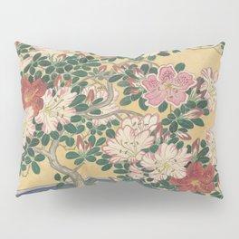 Blooming azalea in blue pot - Ohara Koson (1920 - 1930) Pillow Sham